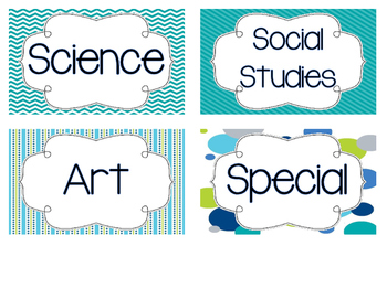 Blue and Green Subject Headers