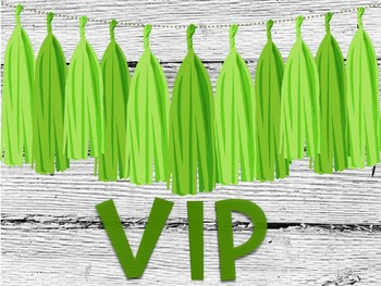 Blue and Green VIP Signs