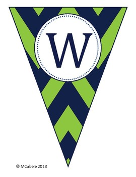 Blue and Green Welcome Banner