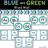Blue and Green Word Wall