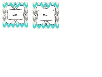 Blue and Grey Chevron Teacher Tool Box Labels {Editable!}