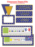 Blue and Orange Dots Classroom Theme Kit