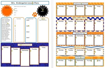 Blue and Orange Lesson Plan Templates