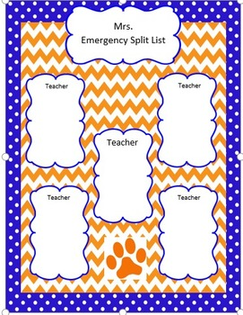 Blue and Orange Split List Template