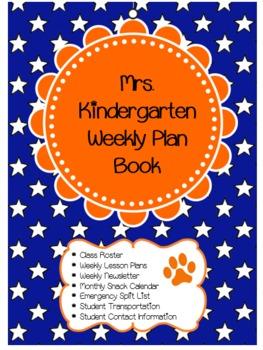 Blue and Orange Teacher Binder Cover