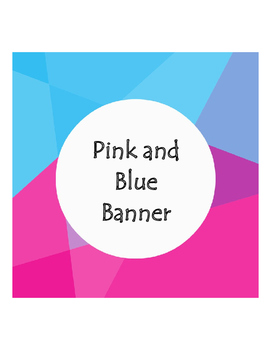 Blue and Pink Banner