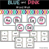 Blue and Pink Word Wall