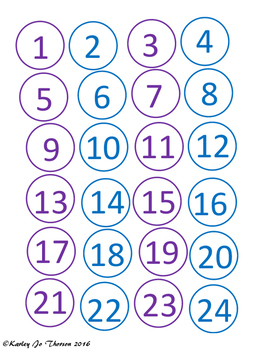 Blue and Purple Class Numbers 2