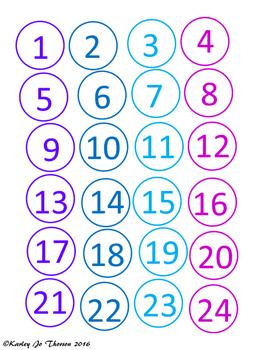 Blue and Purple Class Numbers Freebie