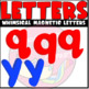 Blue and Red Magnetic Letters ClipArt (scribble clips)