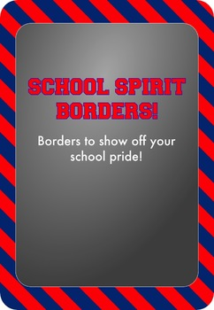 Blue and Red - School Spirit Borders 4 Pack