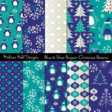 Blue and Silver Penguin Patterns