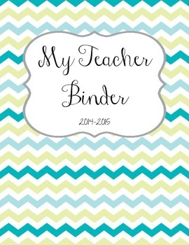 Blue and Teal Teacher Organization Binder