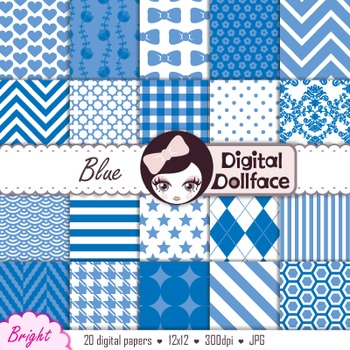 Digital Paper -Blue