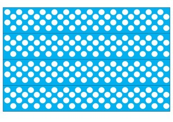 Blue and White Polka Dot Borders