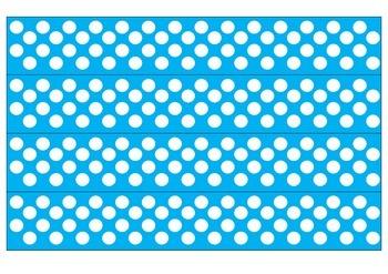 Blue and White Polka Dot Borders