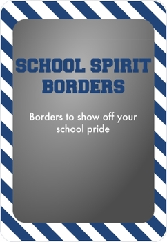 Blue and White - School Spirit Borders 9 Pack