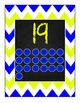 Blue and Yellow Chevron number posters 1- 20