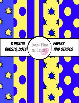 Blue and Yellow Digital Papers