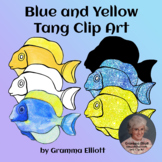 Blue and Yellow Tang Clip Art