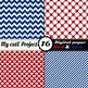 """Blue and red -DIGITAL PAPER - Scrapbooking- A4 & 12x12"""" -"""