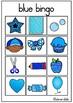 Blue bingo pre-k