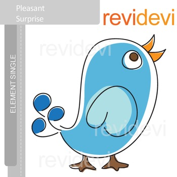 Blue bird clip art / Pleasant Surprise E008