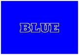 Blue flashcard
