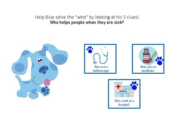 """Blue's Clues for Solving Who - a """"who"""" questions adaptive book"""