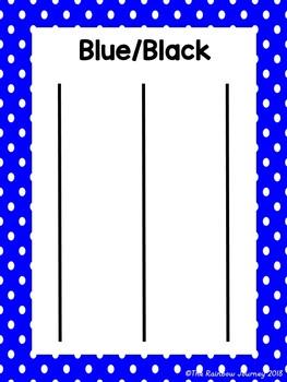 Blue vs. Black Category Sorting
