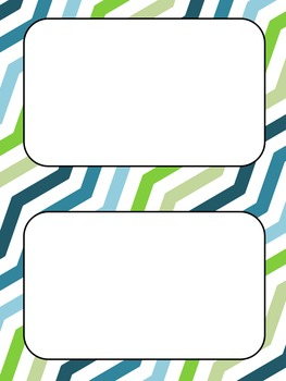 Blue/Green Backgrounds and Borders FREEBIE!
