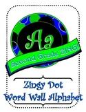 Blue/Green Zingy Dot Word Wall Alphabet