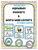 BluePolka Dot Alphabet Posters and Word Wall Cards
