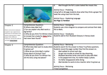 Blueback Tim Winton Novel Study Guided Reading Guide
