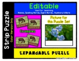 Blueberries - Expandable & Editable Strip Puzzle with Mult