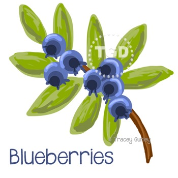 Blueberries Painting Printable Tracey Gurley Designs