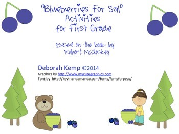"""Blueberries for Sal"" Activities for First Grade"