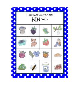 Blueberries for Sal BINGO