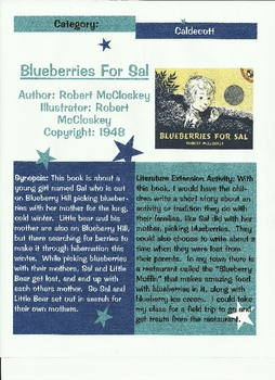 Blueberries for Sal By: Robert McCloskey