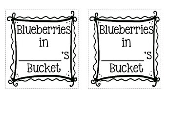 Blueberries for Sal Craftivity