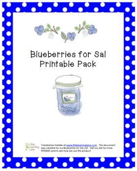 Blueberries for Sal Printable Pack