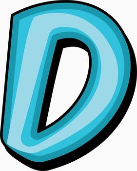 """Blueberry Bubble Gum Alphabet -  150 DPI - PDF/ PNGs - 3.5"""" High - Vector"""
