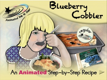 Blueberry Cobbler - Animated Step-by-Step Recipe - Regular