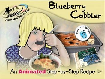 Blueberry Cobbler - Animated Step-by-Step Recipe - SymbolStix