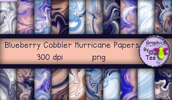 Blueberry Cobbler Hurricane Papers