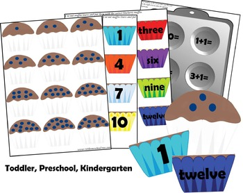 Blueberry Muffin Math (Preschool, Kindergarten)