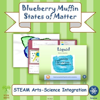 Blueberry Muffins and States of Matter STEM/STEAM Lesson Plans (NGSS 2-PS1-1/4)