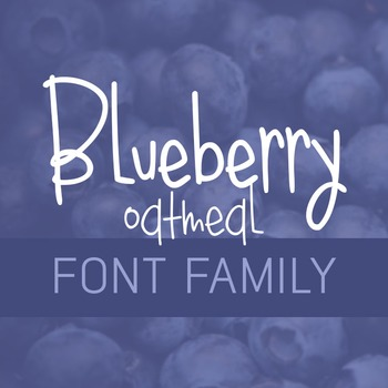 Blueberry Oatmeal Font Family for Commercial Use