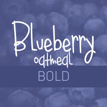 Blueberry Oatmeal Bold Font for Commercial Use
