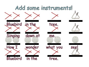 Bluebird - A Rhythm, Melody and Instrument Activity for Kinder and First